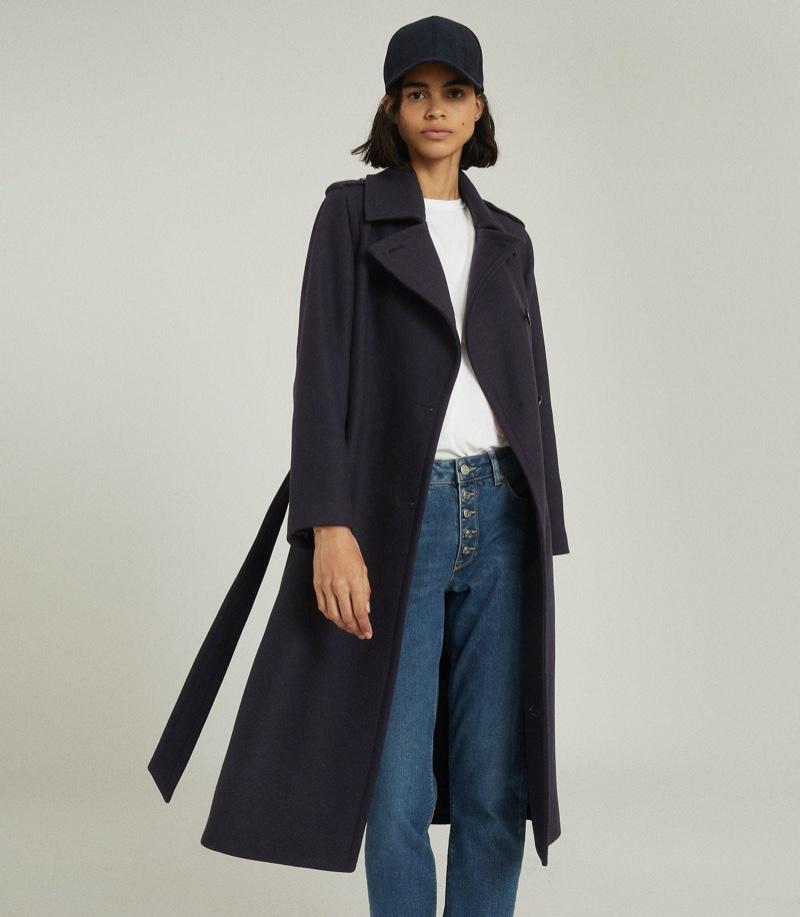 Reiss Sian Wool Blend Trench Coat $745