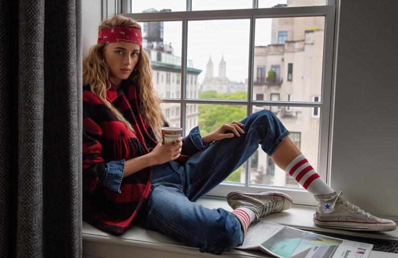 Rianne van Rompaey Embraces New York Street Style for Vogue Paris