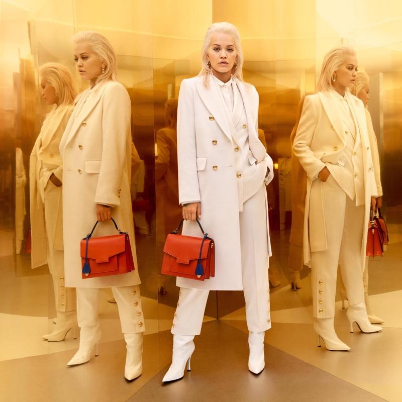 Rita Ora dresses in white for Escada fall-winter 2019 campaign
