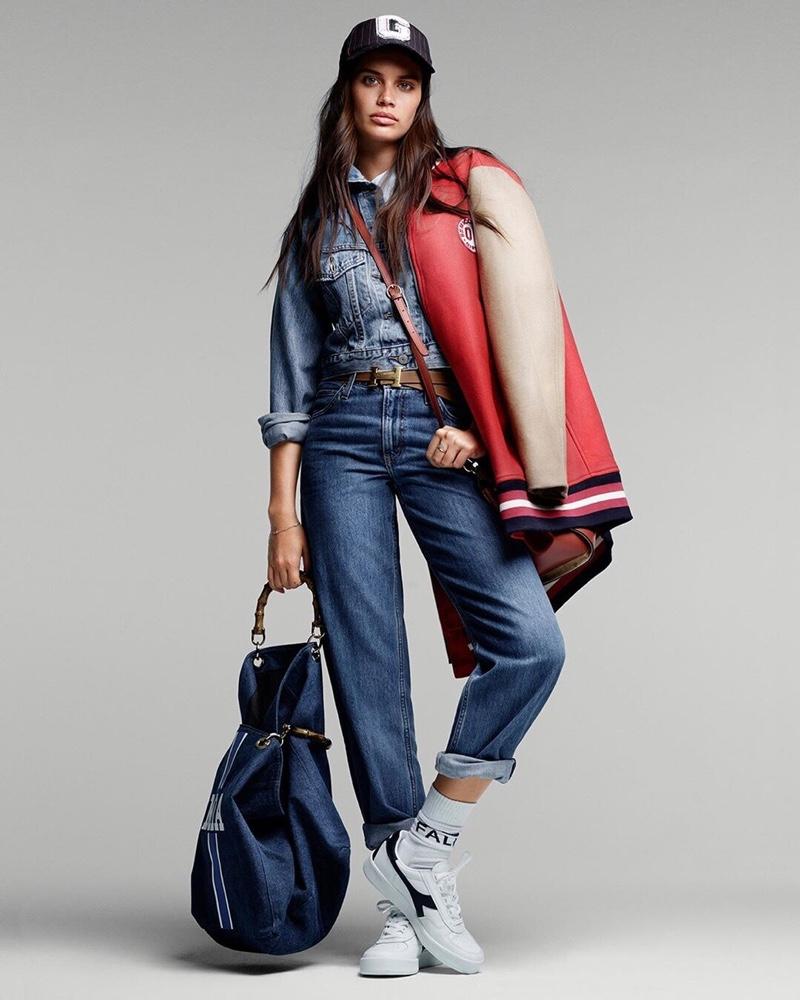 Sara Sampaio Rocks Denim Fashion for ELLE Italy