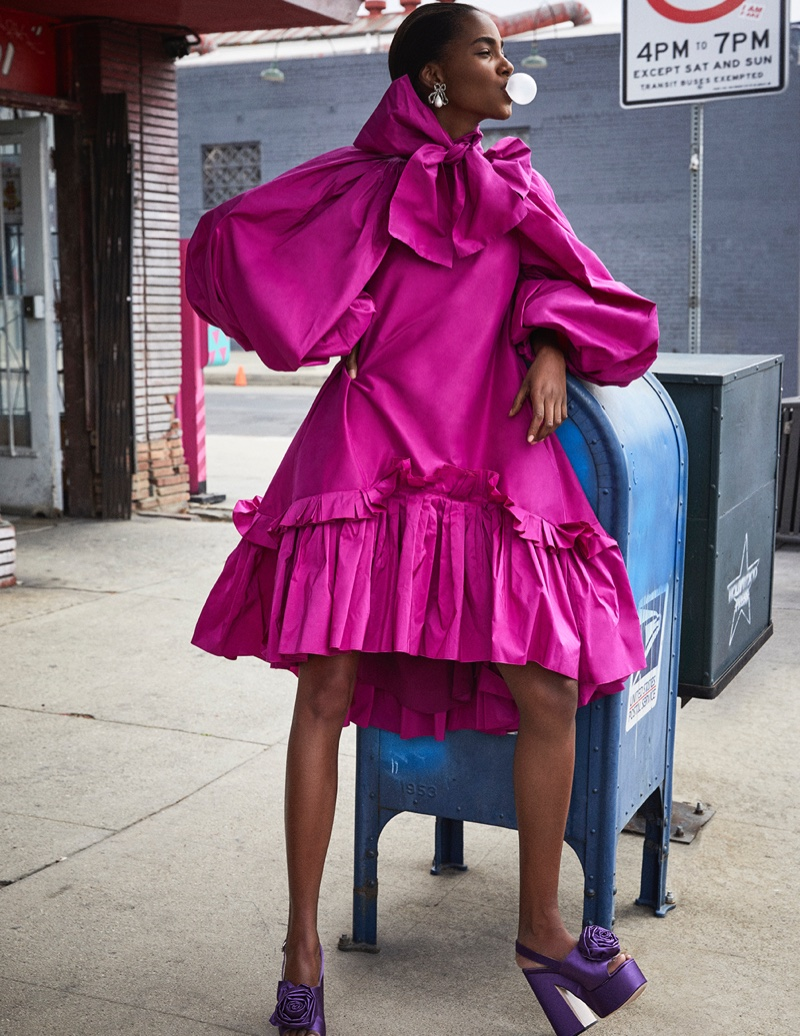 Tami Williams Models Avant Garde Looks for Vogue Spain