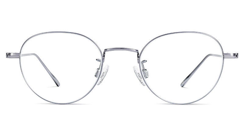 Warby Parker Marston Glasses in Polished Chrome $195