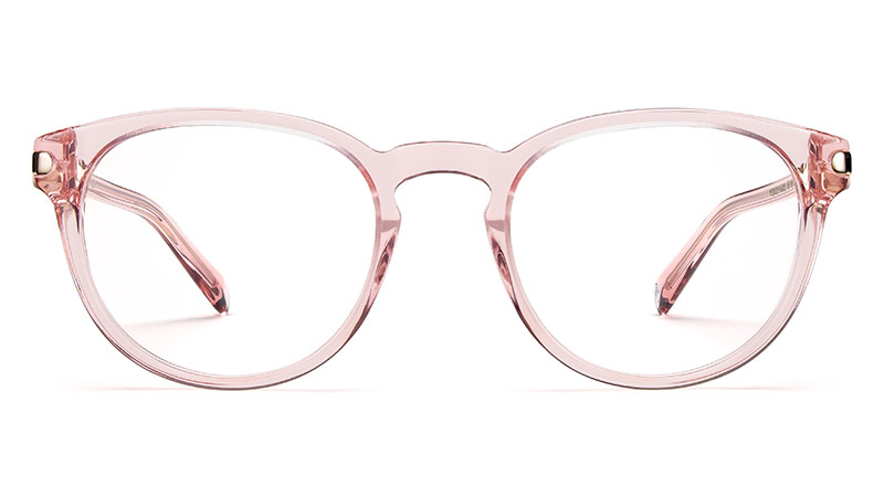 Warby Parker Percey Glasses in Rose Crystal with Riesling Endcaps $145