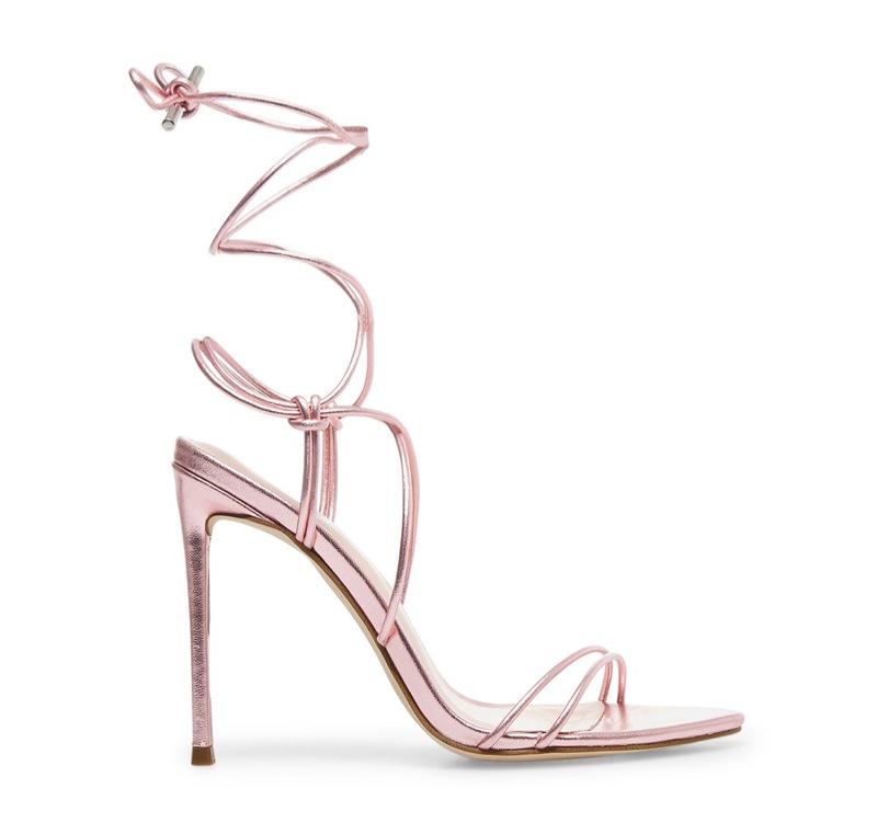 Winnie Harlow x Steve Madden Badgirl Pink Metallic Heels $109.95