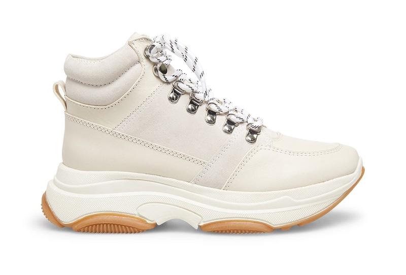 Winnie Harlow x Steve Madden Glorey White Leather Sneakers $109.95