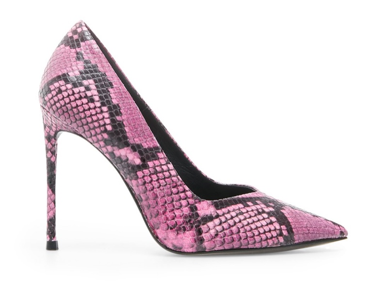 Winnie Harlow x Steve Madden Princess Pink Snake Pump $99.95