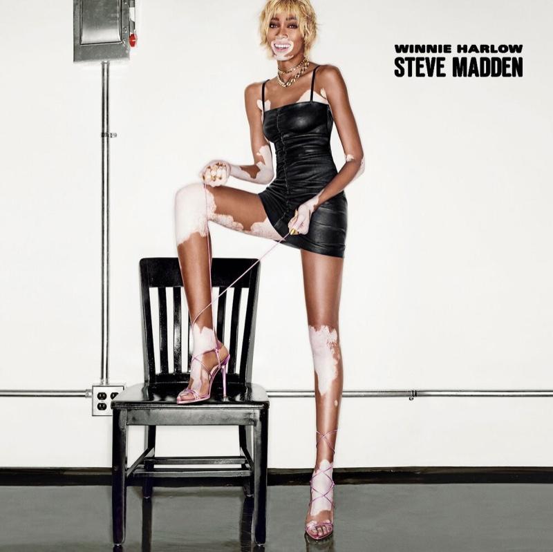 Steven Klein photographs Winnie Harlow x Steve Madden campaign