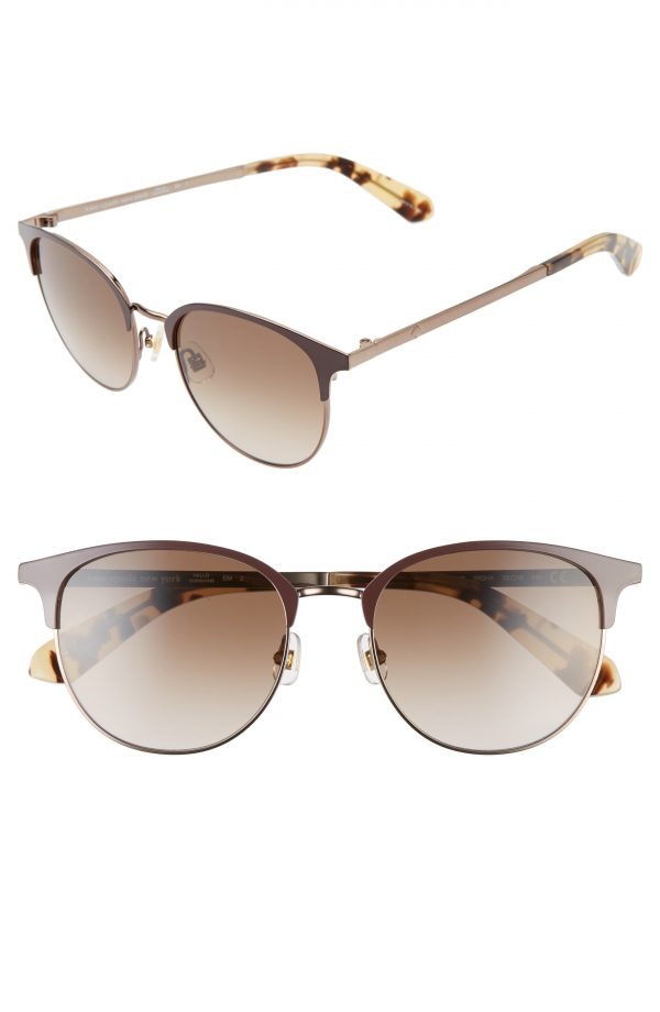 Women's Kate Spade New York Joelynn 52Mm Sunglasses - Brown/ Brown