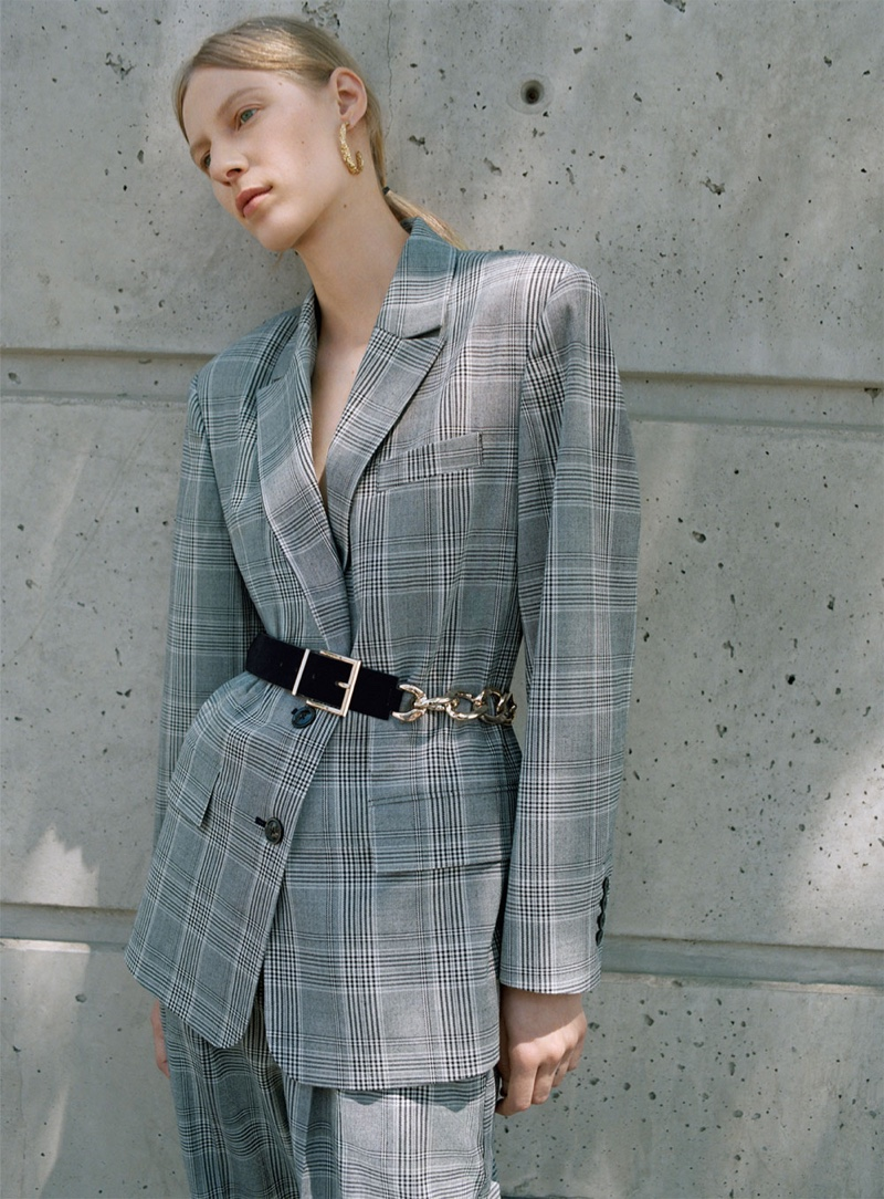 Zara Checked Blazer and Matching Trousers