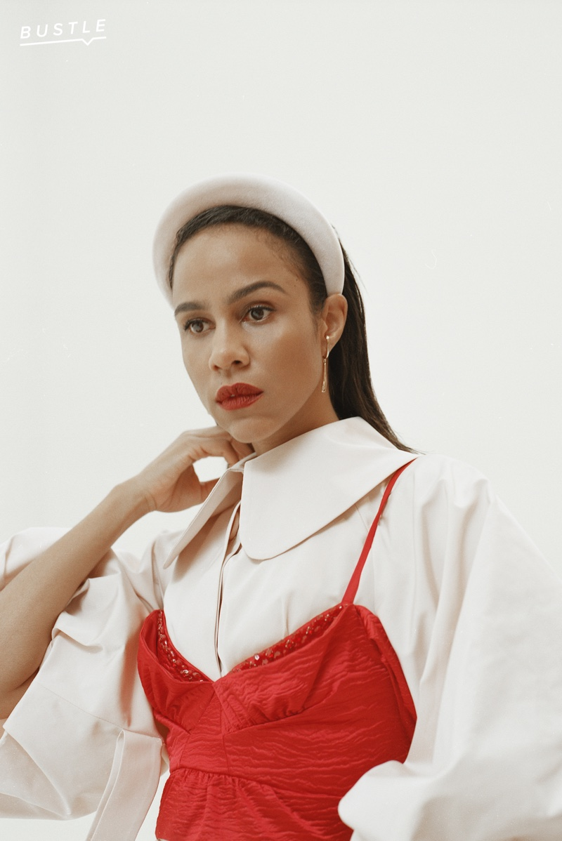 Bustle taps Zawe Ashton for fall fashion feature