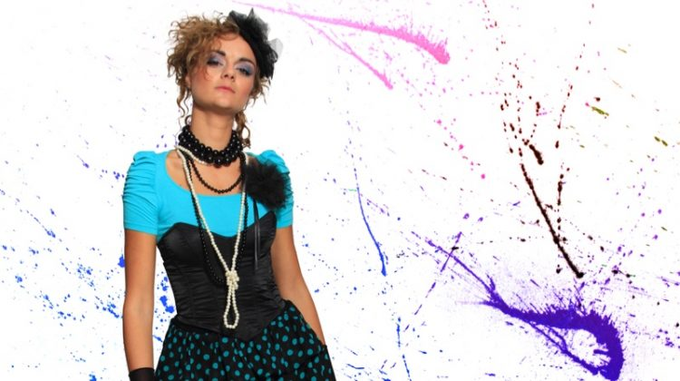Young women wore colorful looks inspired by Madonna in the decade.