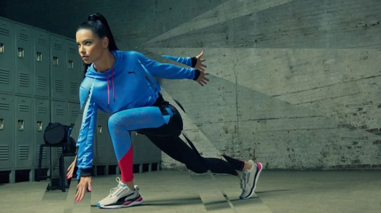 Adriana Lima stars in PUMA LQD CELL Shatter XT Shift sneaker campaign
