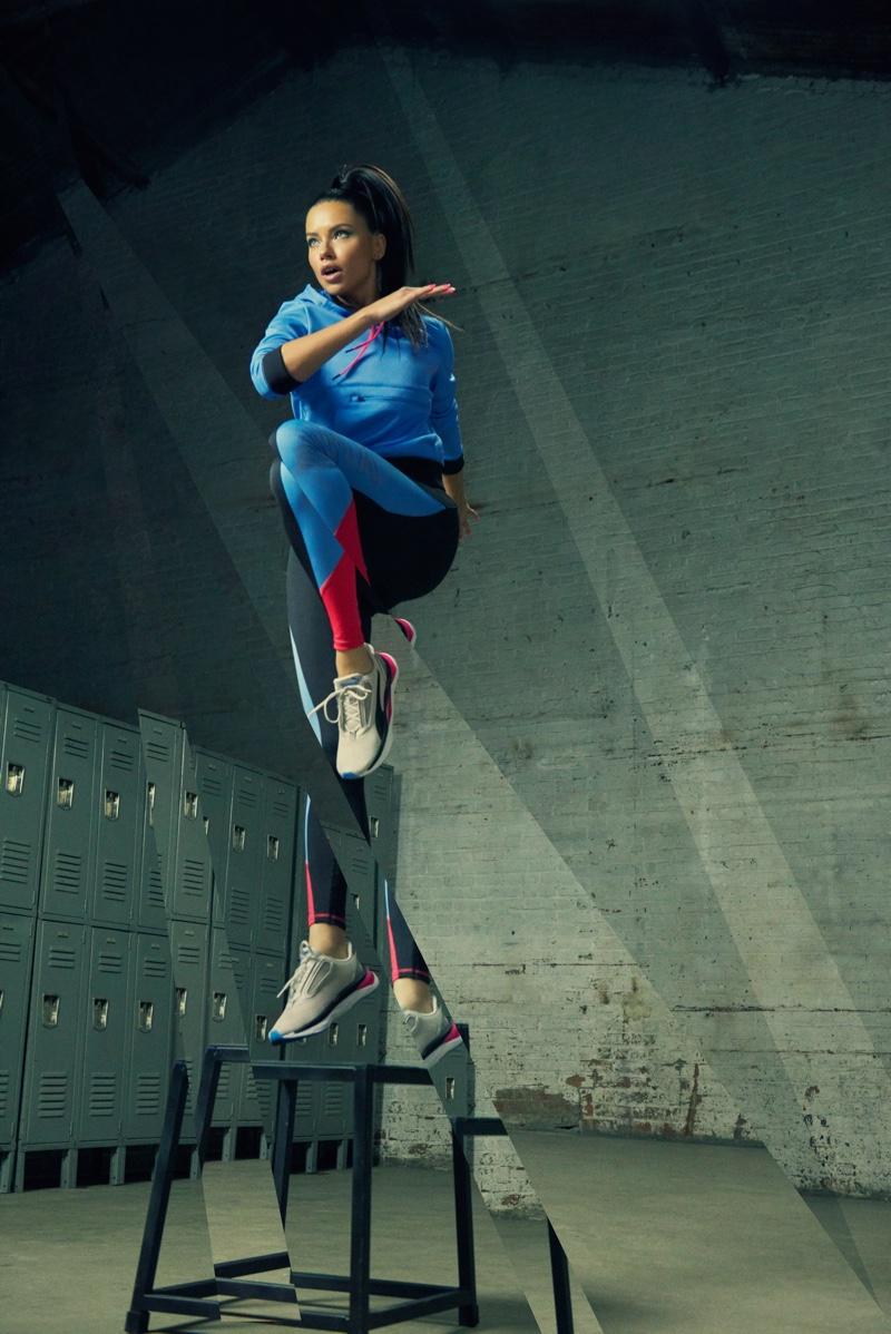 Supermodel Adriana Lima fronts PUMA LQD CELL Shatter XT Shift sneaker campaign