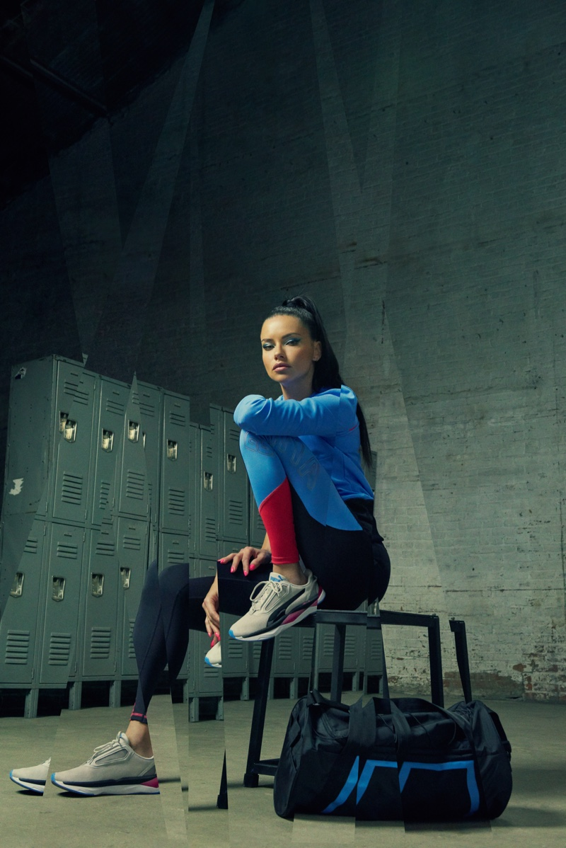 PUMA taps Adriana Lima for LQD CELL Shatter XT Shift sneaker campaign