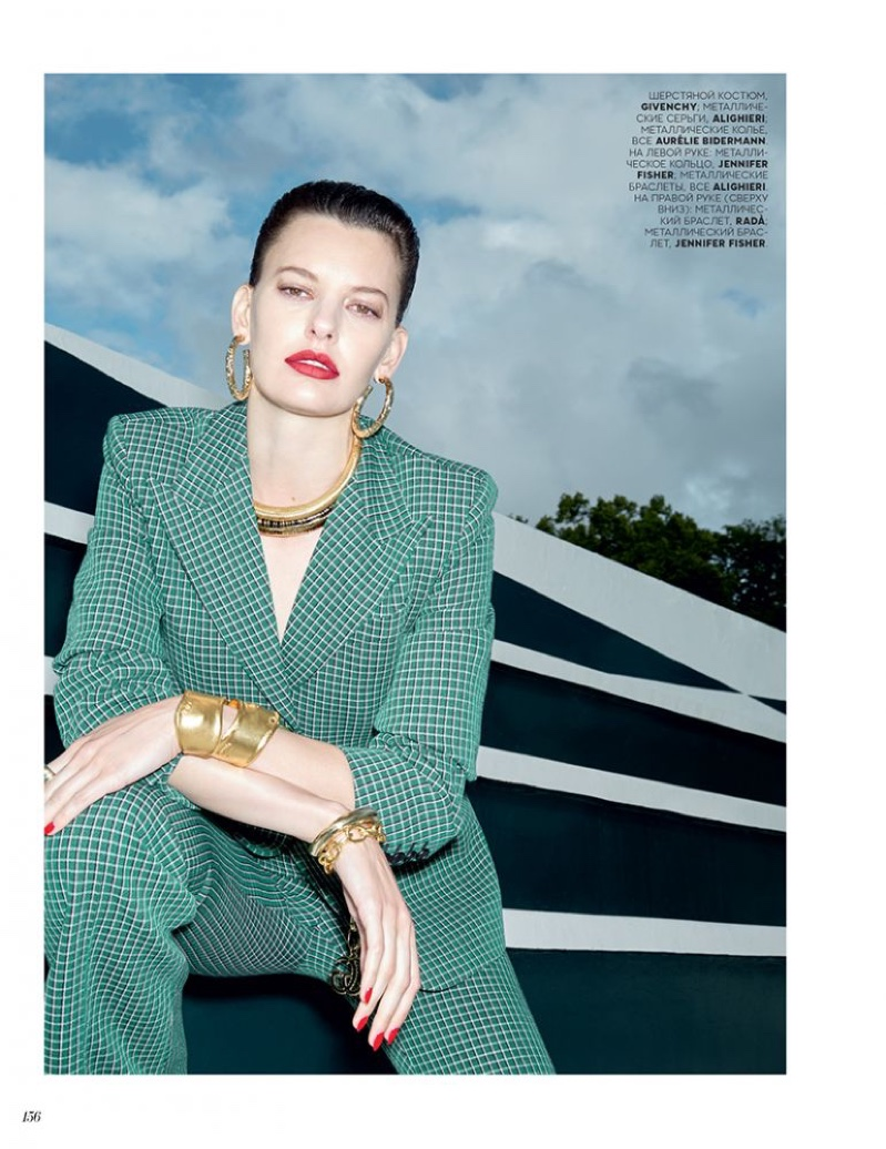 Amanda Murphy Poses in Tailored Styles for Vogue Russia