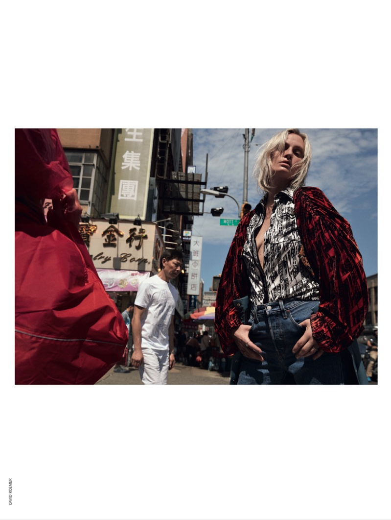 Amy Wesson Poses in Cool Street Style for Marie Claire Italy