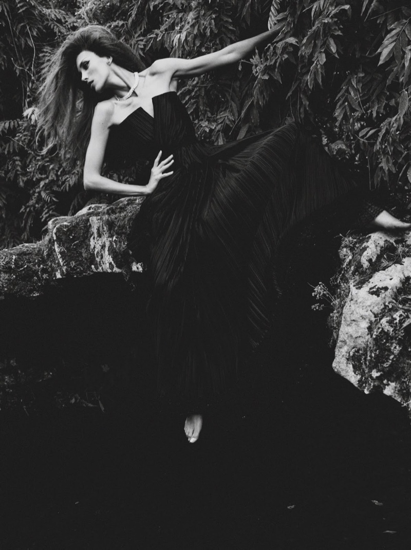Anja Rubik Stuns Outdoors in Haute Couture Looks for Vogue Paris