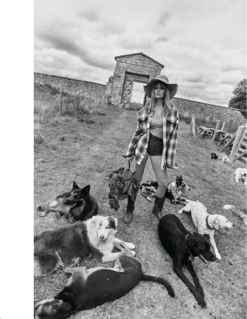 Anna Ewers Models Fashionable Farm Looks for Vogue Paris