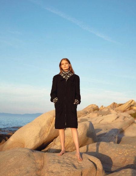 Anna Mila Guyenz Poses in Chanel for Harper's Bazaar Romania