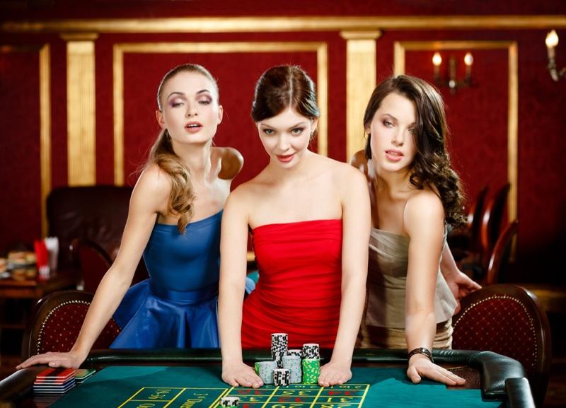 Attractive Women Casino Table Dresses