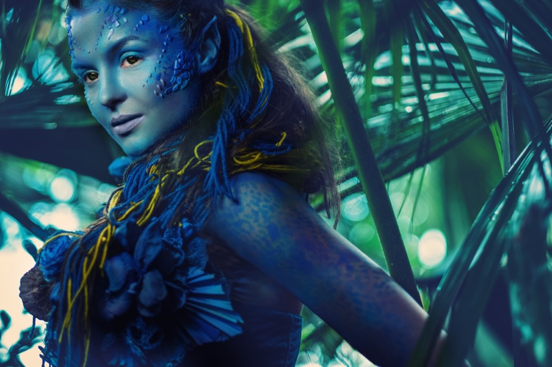 Avatar Movie Inspired Makeup Blue Woman