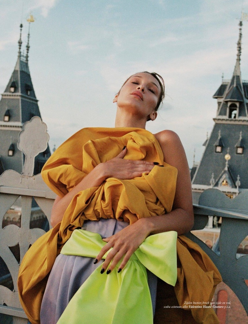 Bella Hadid Poses in Avant-Garde Fashions for Vogue Netherlands