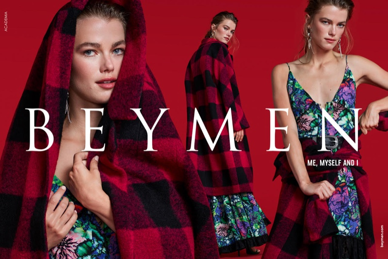 Mathilde Brandi sports plaid in Beymen Collection fall-winter 2019 campaign