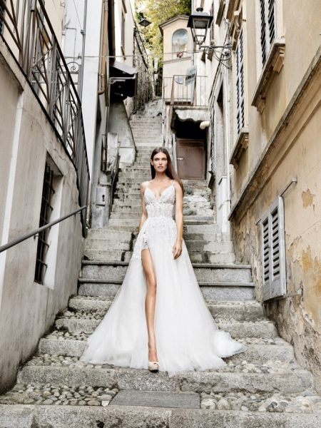 Bianca Balti Dazzles in Alessandro Angelozzi Couture 2020 Bridal Dresses