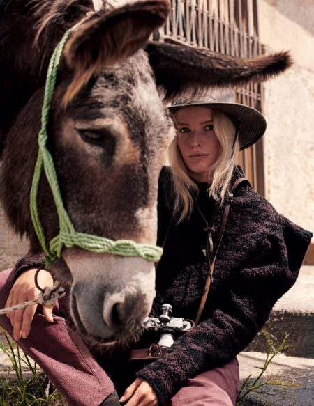 Caroline Winberg Plays a Stylish Tourist for ELLE Italy