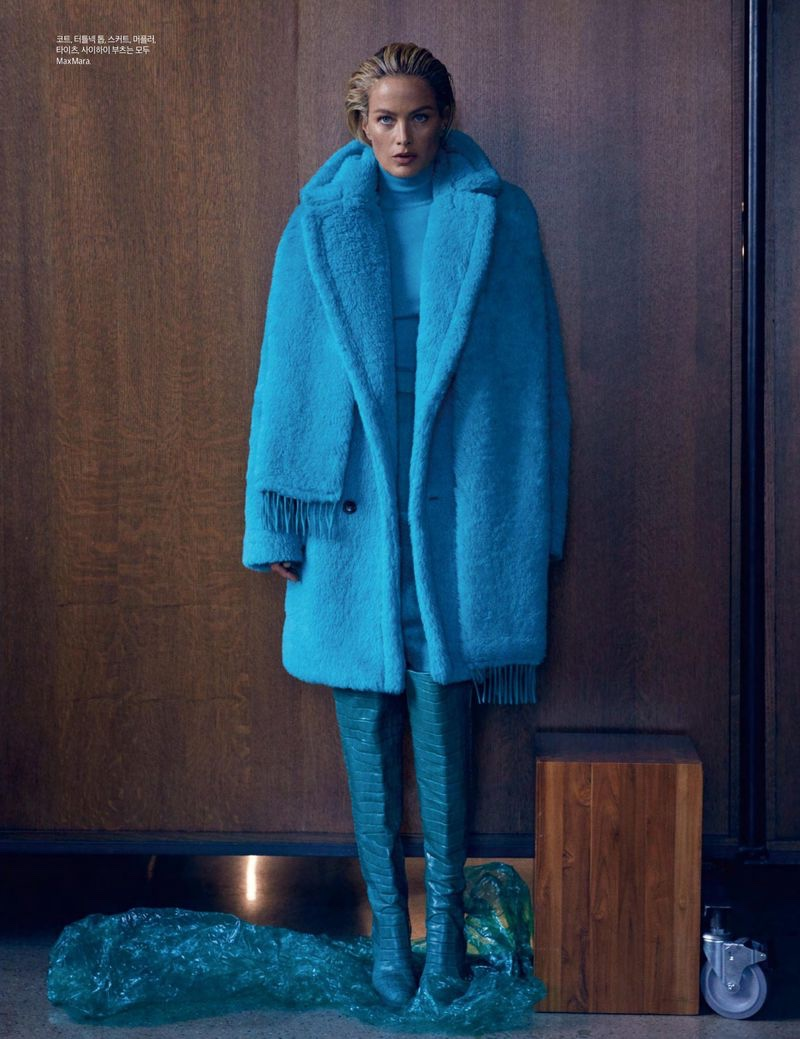 Carolyn Murphy Charms in Max Mara for Harper's Bazaar Korea
