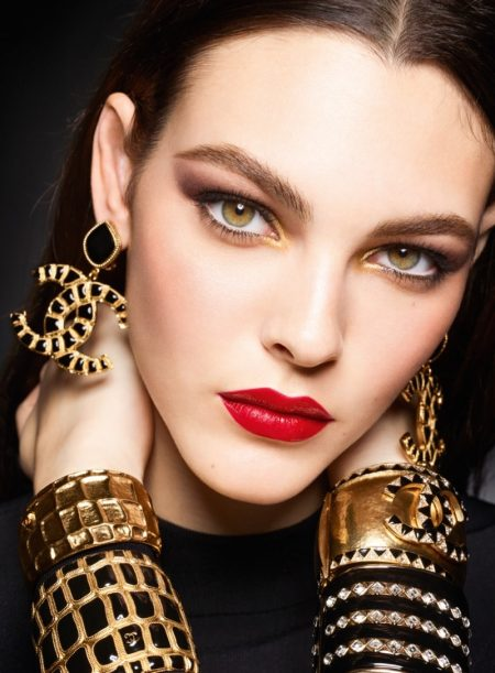 Vittoria Ceretti Stuns in Chanel Holiday '19 Makeup Campaign