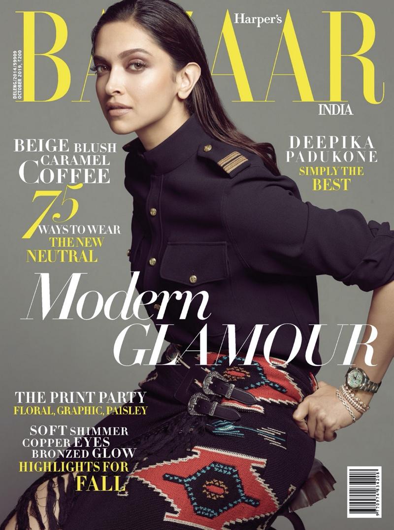 Deepika Padukone on Harper's Bazaar India October 2019 Cover