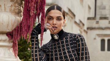 Actress Deepika Padukone wears Alexander McQueen dress and boots