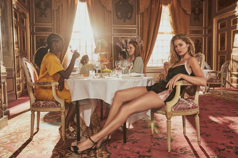 Flaunting her legs, Doutzen Kroes fronts Hunkemoller lingerie 2019 campaign