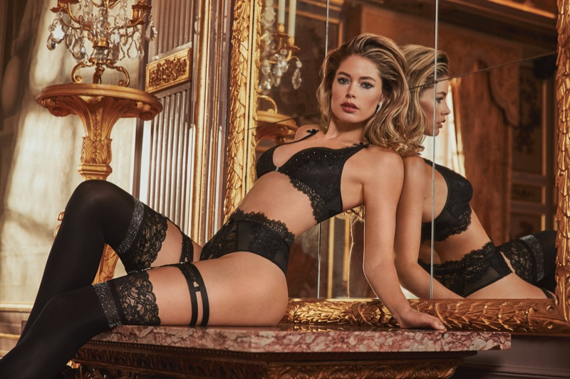 Flaunting her figure, Doutzen Kroes poses for Hunkemoller Doutzen Stories lingerie 2019 campaign