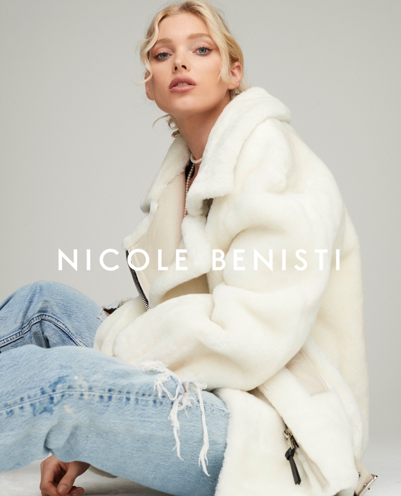 Model Elsa Hosk layers up in Nicole Benisti fall-winter 2019 campaign