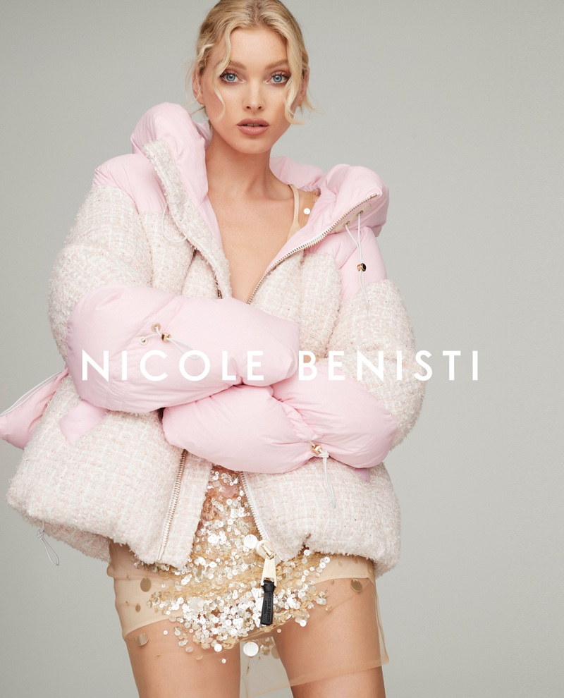 Looking pretty in pink, Elsa Hosk fronts Nicole Benisti fall-winter 2019 campaign