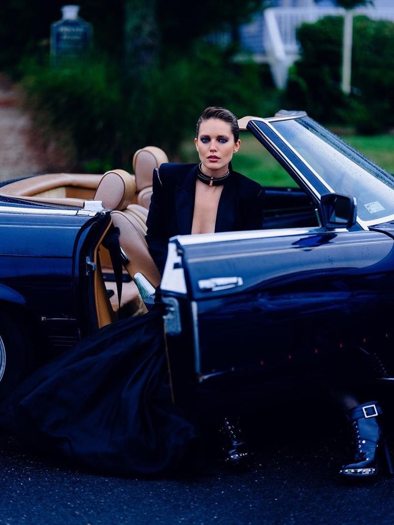 Emily DiDonato Models Glamorous Looks for Vogue Greece