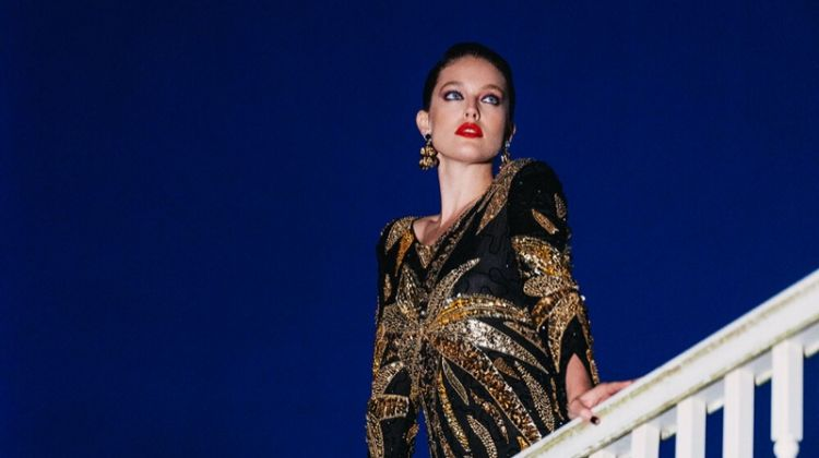 Emily DiDonato Models Glamorous Looks for Vogue Greece