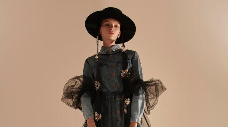 Eva Klimkova Wears Fabulous Denim for Gala Germany