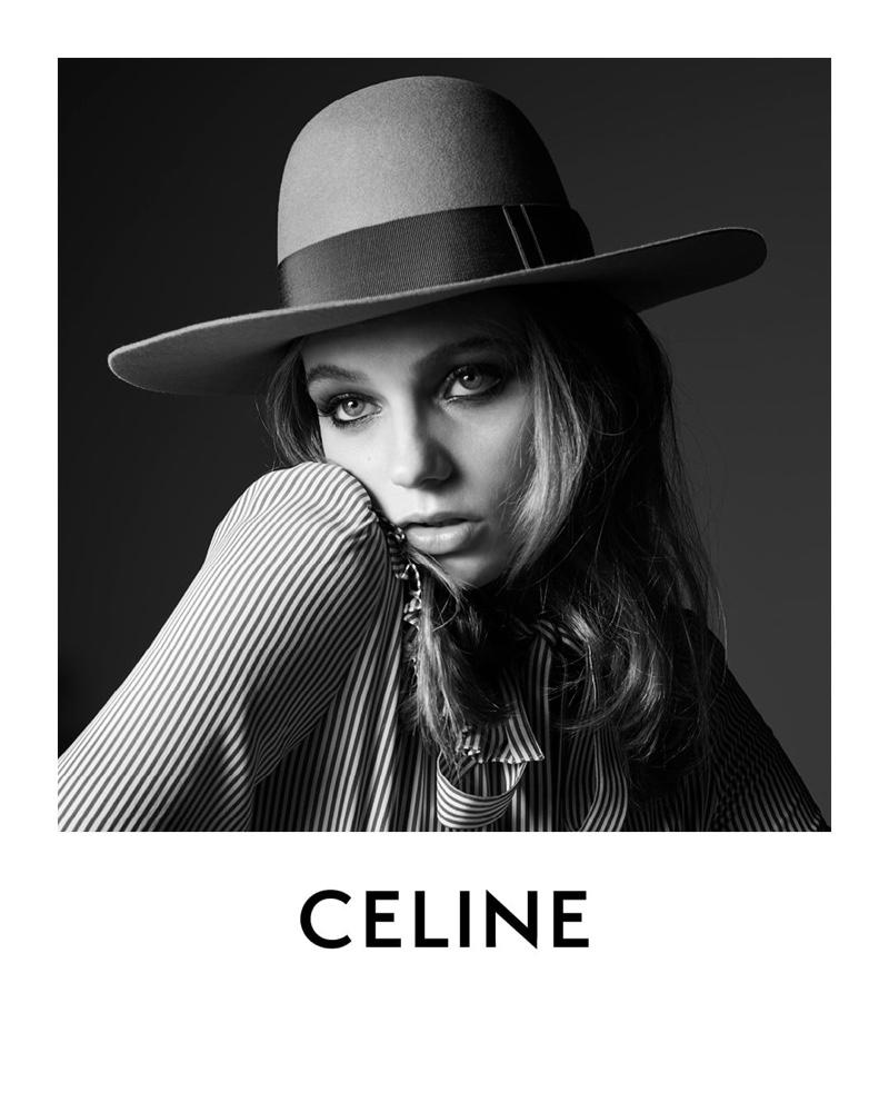 Hedi Slimane photographs Fran Summers for Celine spring-summer 2019 collection