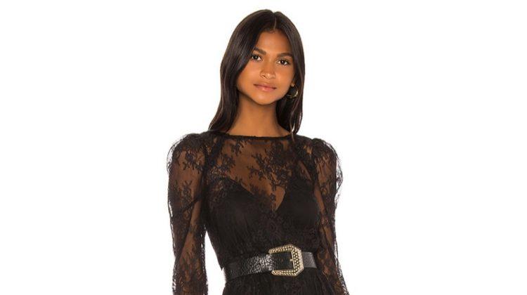 GRLFRND Reese Lace Mini Dress $398