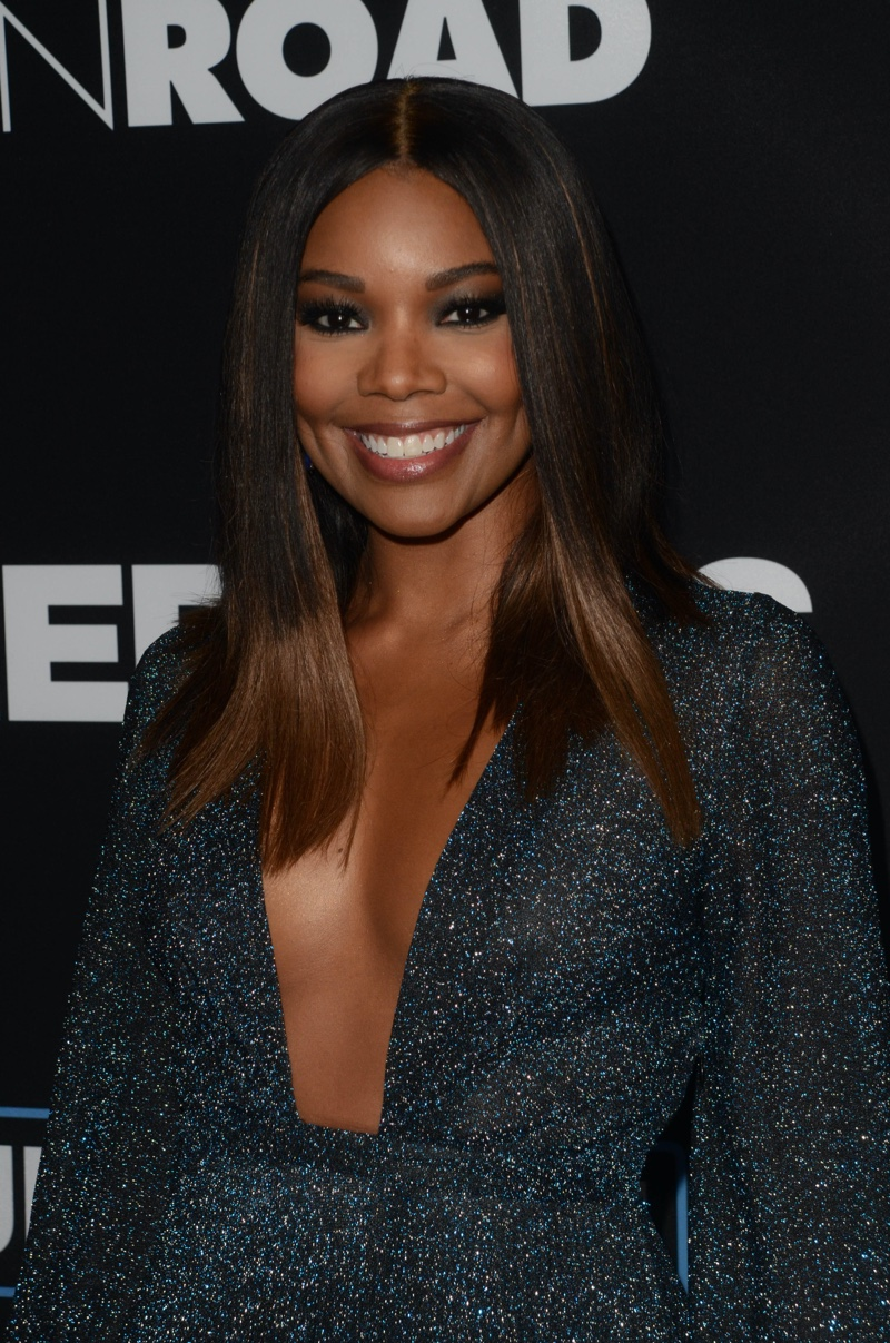 Gabrielle Union shows off the brown hair color on darker skin.