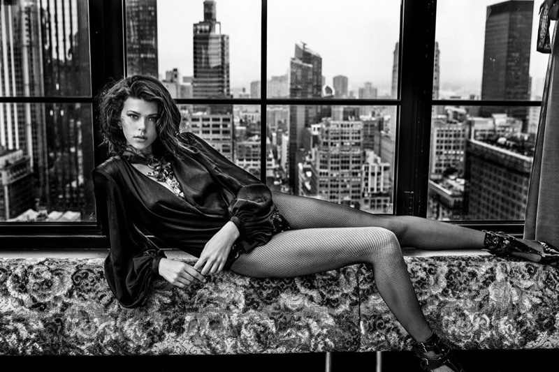 Georgia Fowler Turns Up the Heat in Black & White for Keen Magazine