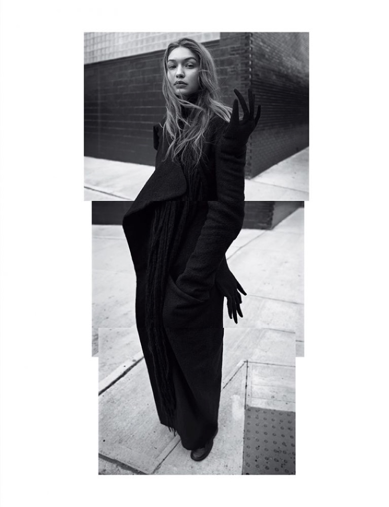 Gigi Hadid Captivates in Black and White for Self Service