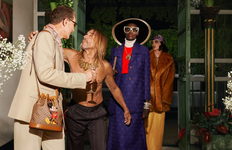 Iggy Pop and models front Gucci cruise 2020 campaign