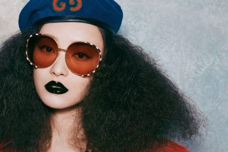 Actress Ni Ni appears in Gucci Eyewear fall-winter 2019 campaign