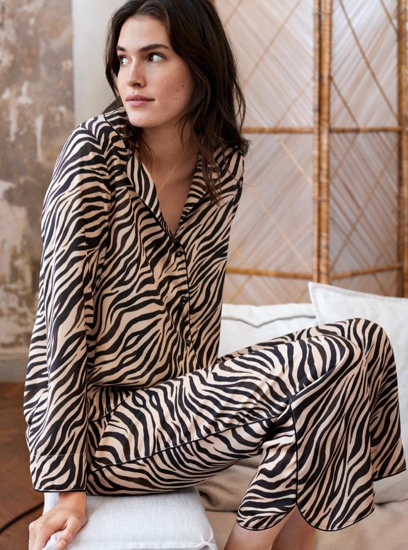 H&M Zebra Print Pajama Set