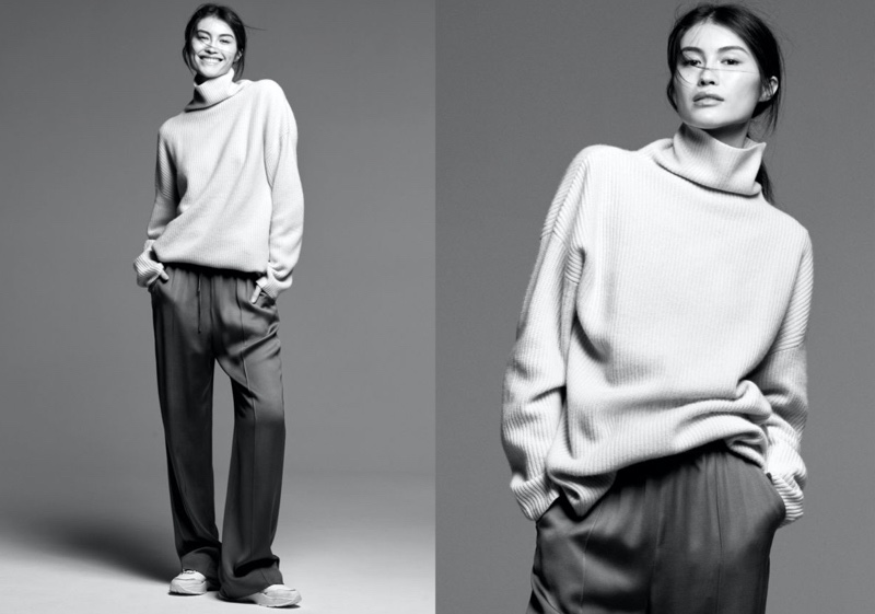 Sui He stars in H&M Luxe Layers fall-winter 2019 lookbook