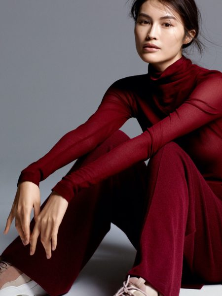 H&M Silk Blend Turtleneck Top and Cashmere Pants